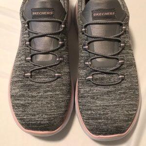 Summits Quick Getaway grey & pink Skechers